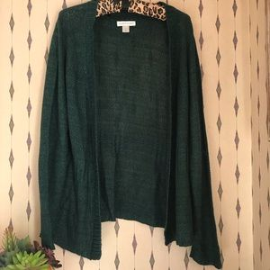 Christopher & Banks Green Open Front Cardigan
